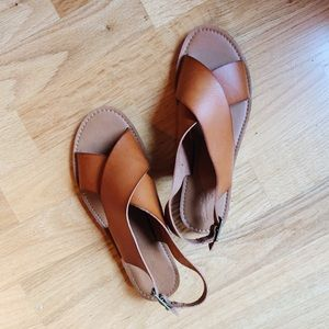 NEW Madewell tan leather sandals